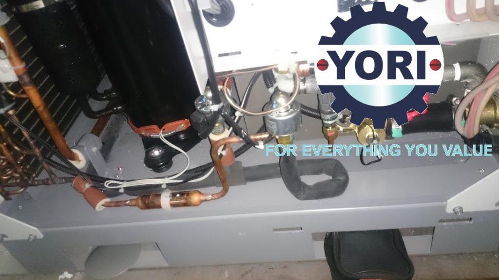 Inside the water chiller ORION – Bên trong máy làm lạnh nước biến tần DC ORION.