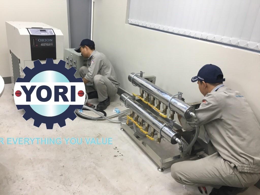 Piping and Electrical Works for DC Inverter Chiller Orion - Công tác kết nối đường ống, van và Kết Nối Nguồn Điện cho Máy làm lạnh nước biến tần ORION