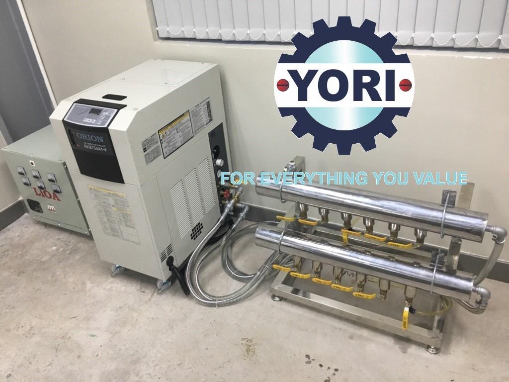Finished Piping and Electrical Works for DC Inverter Chiller Orion - Hoàn thành Công tác kết nối đường ống, van và Kết Nối Nguồn Điện cho Máy làm lạnh nước biến tần ORION