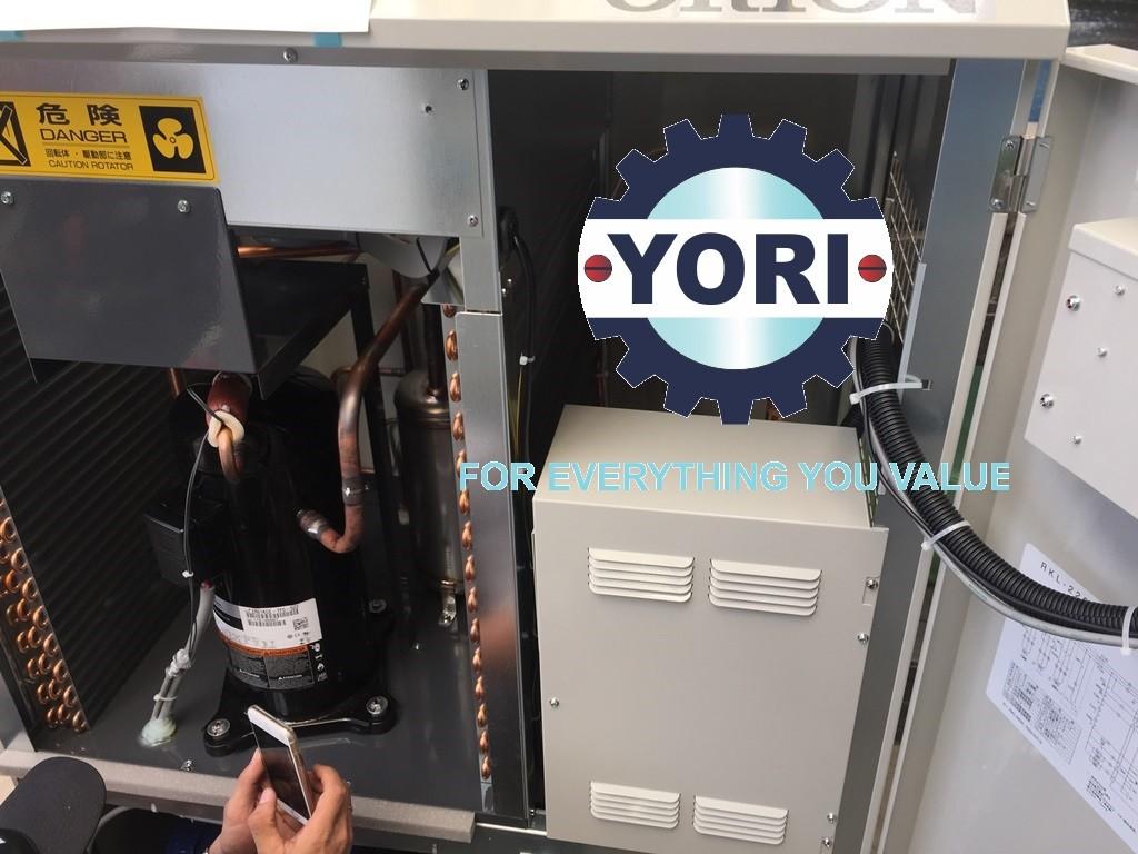 Inside the unit cooler - Bên trong máy làm lạnh nước Nhật Bản