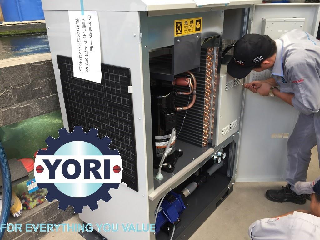 Check the Electric Box - Kiểm tra tủ điện điều khiển máy làm lạnh nước