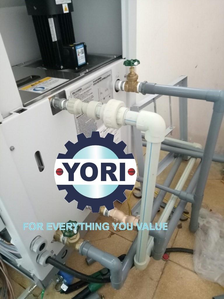 Connect Piping and Electric wire – Kết nối ống và dây điện cho máy làm lạnh nước ORION