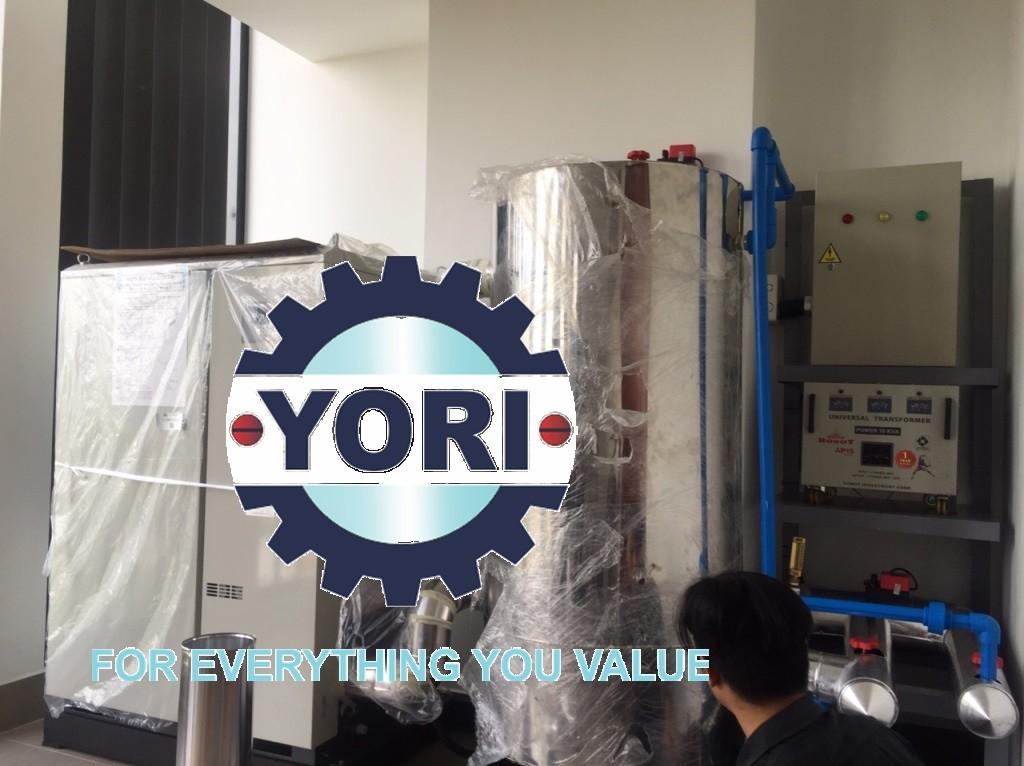 Connect Valve and Piping for Water Chiller (By YORI team) – Kết nối ống và van cho máy làm lạnh nước ORION (thực hiện bởi công ty YORI).
