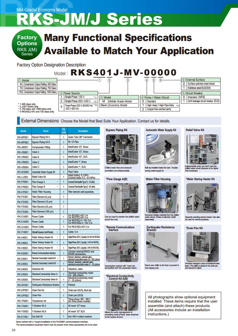 Many Functional Specifiations Available to Match Your Application