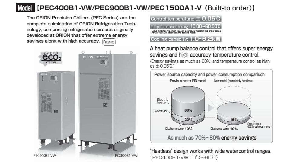 model máy làm lạnh nước chính xác orion